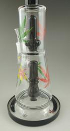 Aparejo de jaula en venta-Los más nuevos 2016 bongs de cristal de la plataforma petrolera venden al por mayor la nueva jaula gemela bongs júnior tubo de agua de cristal pipa de cristal que fuma