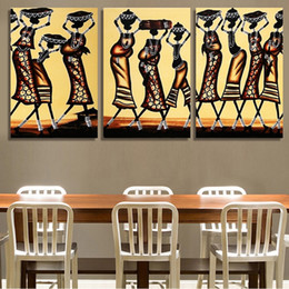 Traditional beautiful women dancing 3 pieces paintings unframed printed canvas for study room and grogshop decoration