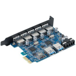 ORICO PVU3-5O2U Desktop 7 Port USB3.0 PCI Express Card for Laptop-Black card nail card chip