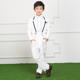 Wholesale Small Children Picture - Small boy suit flower girl dress or lend students children wedding dress suits for boys(jacket+pants)