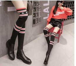 Free spring autumn winter summer platform Thigh-High heels blue red velvet boots for woman over the knee high long Stretch boots women shoe