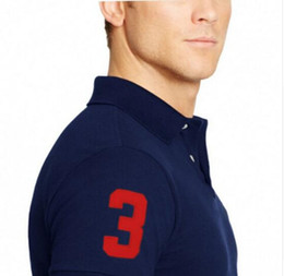 Wholesale 2016 Big horse brand tee polos shirt men shirts short sleeve casual style masculina camisetas sportswear for ralp me shirts