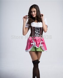 Wholesale-Sexy Maid Cosplay Germany Beer Festival Halloween Costumes for Women Green