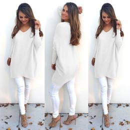 Wholesale 2016081308 Fashion Lady Knitwear Women Casual Sweater Autumn Winter Knitted Plus Size Split Pullover Sweater long sleeve women clothing