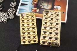 lovely new arrival shining soft TPU cell phone case for iphone7 7plus fashion girl style heart-shaped phone caver