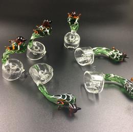 Wholesale Bird Handle Beautiful Glass Carb Cap for mm Thick Domeless Quartz Nail Carb Caps Quartz Banger Dab Nail Carb Caps Oil Rigs