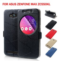 Wholesale-for Asus Zenfone Max Leather Bag Cover Smart Leather Stand Protective Case for Asus Zenfone Max ZC550KL 5.5-inch