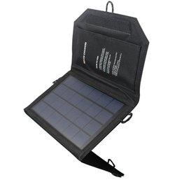 Wholesale 2016 Solar Charger Pack V W USB Foldable Outdoor Solar Panel Black for Mobile Phone Power Bank Charging Clear Energy High Efficiency