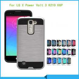 Wholesale For LG V20 X Power Volt K210 K6 K6P Boost Mobile for lg K7 tribute K10 Armor Hybrid Brushed Case Cover
