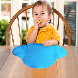 Waterproof silicone Baby bib Table Mat Silicone Pad Infant Diner Portable Placemat for kid Baby Feeding-baby place mats cleaning