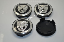 Wholesale 50pcs mm quot Black Jaguar wheel Center Cover Hub Caps Fit for Jaguar XJ8 XK8 XKR S Type X type