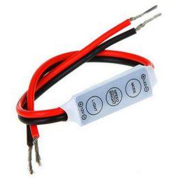 3 Keys DC 12V Mini LED Strip Light Controller for 5050 3528 SMD LED Strip Lights Dimmer