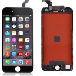 Original black Grade A +++ LCD Display Touch Digitizer Complete Screen with Frame Full Assembly Replacement for iPhone 6 iphone 6 plus