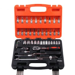 Wholesale 46 Piece Automotive Tool Kit Drive Socket Set Inch Ratchet Wrench