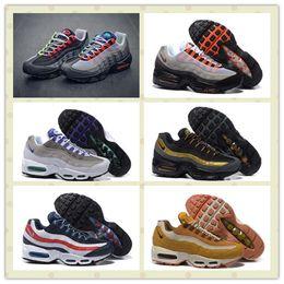 Discount Shoes Run Air Max Air Max 95 OG Greedy Retro Men's Sports Running Shoes Cheap Original Air max95 Maxes Airmax 95 OG Neon Green Black Men Sneakers US 7--12