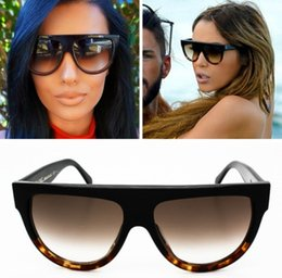 Wholesale New Famous Designers C line Brands Sunglasses Men Flat Top Smiley line Audrey CL41026 fashion women glasses lunettes de soleil