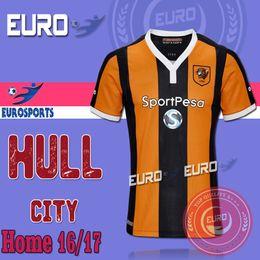 2016 17 Thai Quality HULL CITY soccer jerseys camisetas de futbol Home Yellow Cheap maillot de foot survetement HERNANDEZ football shirts