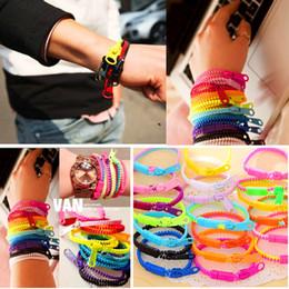 Brand New 48Pcs Mixed Colors Cute Fashion Zipper Style Men's Women's Cuff Bracelets Jewelry wholesale lots