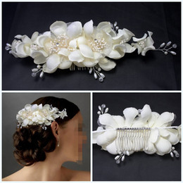 Pearl Flower Hair Comb Wedding Bridal Tiara Headband Pearl Ivory Beaded Elegant Hair Dress Barrette Hair New-arrival Bridal Accessories