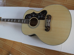 "Wholesale High Quality Folk 43"" Nature Burlywood * Solid Spruce Top * J200 NA Maple Sides & Back Acoustic Guitar China Custom Shop"
