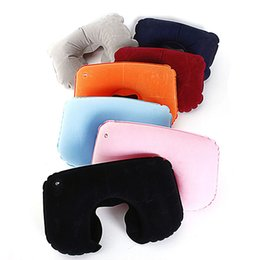 Wholesale Best NEW Portable Folding Air Inflatable Travel Neck U Shape Pillow Support Head Rest Air Blow Up Cushion Outdoor