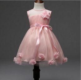 2016 baby Girl party Dresses Infant Party Princess wedding Dresses,Girls summer vest children dress clothing baby Baptism Dress