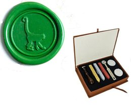 Wholesale Vintage Custom Picture Wedding Invitation Cute monkey Wax Seal Stamp Kit Gift Box Set