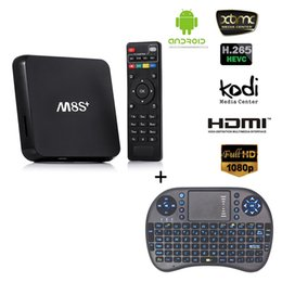 Wholesale Best TV Streaming Device M8s plus Mini Pc Android TV Netflix YouTube Google TV Kodi15 supported Black White I8 Li battery Mini Keyboard