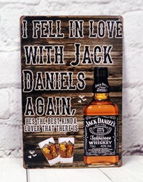 Wholesale I Fell In Love With Whiskey Tin Metal Signs Bar Pub Cafe Decoration
