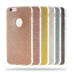 Fashion Bling Cell Phone Cases Flash Powder TPU Phone Cover for iphone 6S 6 6SPlus 68