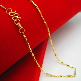 Genuine gold 18K gold necklace gold chain men women gold fine fashion chain chain length of clavicle