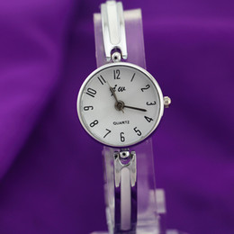 Wholesale silver plating alloy metal band round alloy case simple dial jw fashion woman lady quartz bracelet watches hot selling