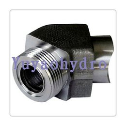 Wholesale 2016 Real Top Fashion Forged Welding Carbon Steel Plug Bushing Nipple Topografia Hydraulic Adapter of Weld Connection Deg Elbow Fittings
