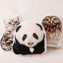 Sieste chat à vendre-Coussin créatif de dessin animé 3D Mignon Panda / Owl / Cat / Dog Nap Pillow Pet Car Coussin en peluche Coussin de siège Canapé Décoration intérieure Textile