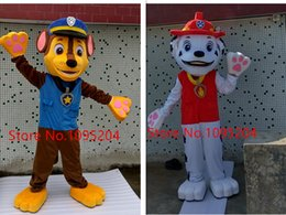 Wholesale 2016 New Arrival AM0621 Adult Cartoon Character Patrol Marshall Dog Mascot Costume Party Dress