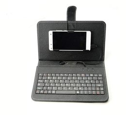 Caso de cuero del teclado del iphone en Línea-Caso del teclado universal PU del tirón del cuero de la cubierta portátil protector con el sostenedor del soporte para Samsung Galaxy s7 teléfono móvil 4.2 a 6.5 pulgadas Nuevo