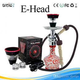 Square e head ehead e hose mini shisha Square Cartridge Refillable ehookah Disposable Hookah 2400MAH Vaporizer E Cigarette Kit