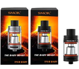 Wholesale Smok TFV8 Baby Tank ml e Juice Capacity Top Refill TFV8 Baby Cloud Beast Atomizer Original
