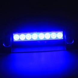 Car Vechicle Led Emergency Strobe Flash Warning Light 12V 8 Led Flashing Lights Red Blue White Green