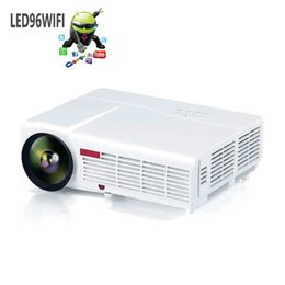 Wholesale New Arrival LED96 Android WIFI Video HDMI USB x800 Full HD P Home Theater LED projector Projetor
