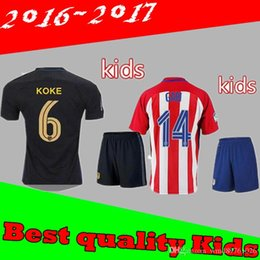 Wholesale Best quality Atletico Madrid Kids Jersey GRIEZMANN home away F TORRES thai quality Atletico Madrid childrens jersey shirt
