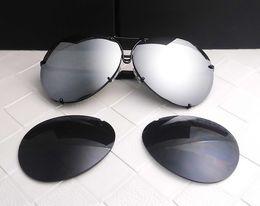 Gafas de diseño fresco en venta-Las mujeres eyewear de las mujeres de los hombres del diseñador de la marca de fábrica P8478 refrescan el estilo del verano polarizaron los vidrios de sol de las gafas de sol de las lentes 2 sistemas lente 8478