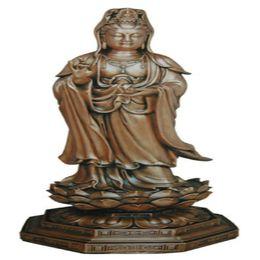 Wholesale Copper Buddha avalokitesvara bodhisattva guanyin Buddha round place adorn the antique copper round figure of Buddha Buddha series