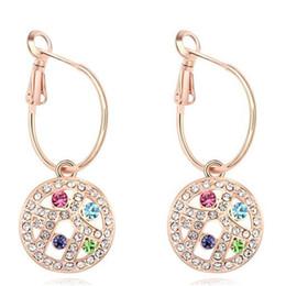 Luxury Noblest Rhinestone Crystal Dangle Earrings For Women 18K Champagne Gold Plated Drop Earrings Prom Jewelry 12678