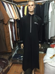 Wholesale Clothing for Men Muslim Work Wear Long Short Dress Thobe Arabic Abaya Men Islamic Clothing