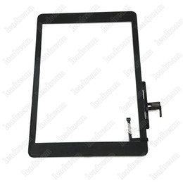 10PCS Touch Screen Glass Panel Digitizer with Buttons Adhesive Assembly for iPad 5 Air with Tools Black and White