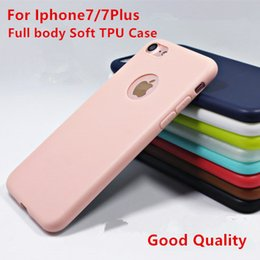 Wholesale For Iphone7 Plus Ultrathin Full Body Matting Phone cases Dull polish Soft TPU Back Cover For Iphone6 s s