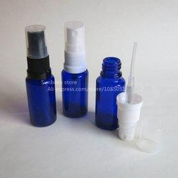 Bouteilles bleu cobalt gros à vendre-Livraison gratuite 500 pcs 15 ml cobalt bouteille en verre bleu avec pompe lotion, Essential Bouteille Pompe à huile, gros usine