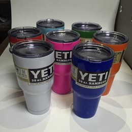 Wholesale 50pcs Price Yeti oz Mugs Rambler Tumblerful Bilayer Double Wall Cups Large Capacity ml Beer Bottle Can Be Customized