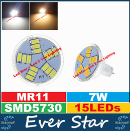 Promotion gu4 conduit DC 12V Led Ampoules MR11 / GU4 7W Spotlights Led 15pcs SMD5630 600 Lumens Chaud / Froid Blanc